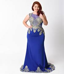 royal blue plus size royal blue gold embellished dress for homecoming