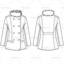 women u0027s fur blazer fashion flat template u2013 illustrator stuff