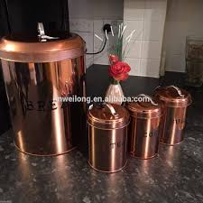 100 copper kitchen canister sets amazon com certified copper kitchen canister sets 100 copper canister set kitchen vonshef 3pc kitchen