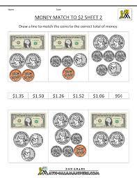 2nd grade money worksheets up to 2 math class pinterest