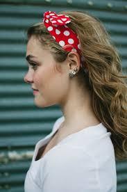 1950s headband 1950s women vintage rockabilly pin up white polka dot headband