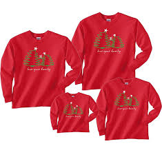 christmas shirts christmas trees on a sleeve cotton