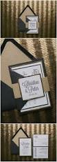 real wedding christine and peter letterpress black and gold