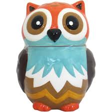 halloween cookie jar earthenware owl cookie jar multi color walmart com