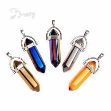 crystal stones necklace images Titanium rainbow healing titanium crystal quartz chokers gold jpg