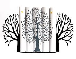 Unique Bookends Metal Bookends Spring Tree Modern Home Decor