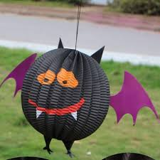 halloween tissue paper lantern ball hanging lamp craft festival