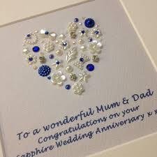 45 year anniversary gift personalised sapphire wedding anniversary gift 45th sapphire