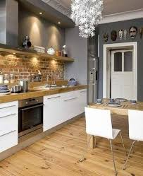 deco cuisine blanche et grise idee deco cuisine avec cuisine blanche et grise et bois élégant 15