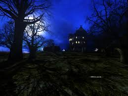 halloween dark forest background 600x600 halloween decorated homes wallpaper pictures to pin on pinterest