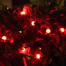 Red Solar Lights by Solar String Lights 15 Led Ladybugs