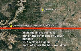 Uga Map No Notre Dame Isn U0027t Uga U0027s First Game North Of The Mason Dixon
