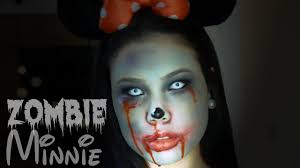 diy minnie zumbi maquiagem de halloween zombie minnie makeup