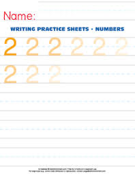 number 2 writing practice worksheet u2013 e is for enrichment