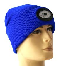 beanie with led lights sports running 6 led beanie knit hat rechargeable cap light cing