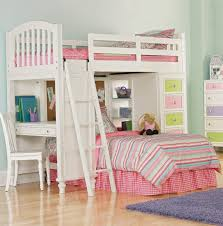 Bed With Stairs And Desk Bedroom Dazzling Bunk Bed With Desk And Stairs Slide Beds