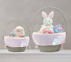 bunny baskets easter baskets for boys pottery barn kids