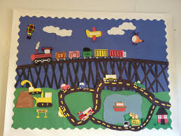 transportation theme bulletin board may transportation