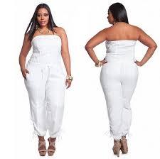 stewart jumpsuits white linen strapless jumpsuit choozone