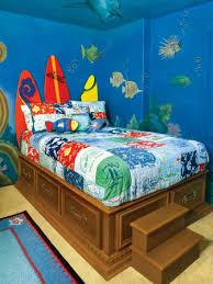 fresque carrelage mural murale chambre enfant fond marin planches surf