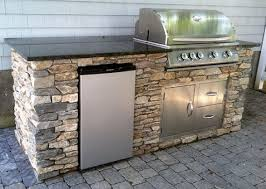 charming outdoor kitchen metal framing kits built in with brushed