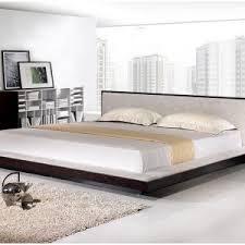 Platform Bed With Floating Nightstands Bedroom Modern Black Platform Bed With Led Lighting King