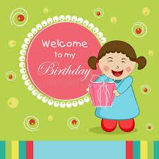 concept of birthday invitation card stock illustration image