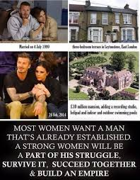 Strong Woman Meme - david beckham s wife a perfect exle of a strong woman jokofy