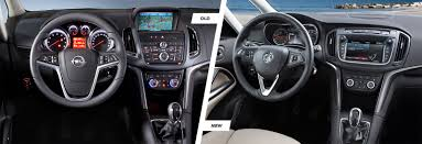 opel cars interior vauxhall zafira tourer old vs new compared carwow