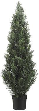 two 48 inch outdoor artificial cedar topiary tree uv