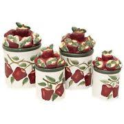 apple kitchen canisters apple cookie jar ebay