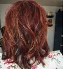 mahogany red hair with high lights red auburn hair with caramel highlights by kenya beauty