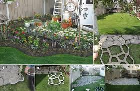 diy concrete cobblestone path home design garden architecture