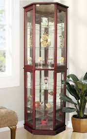 ashley furniture curio cabinet the most beautiful lighted curio corner cabinet for house decoration