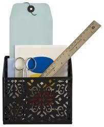 Brocade Home Decor by Amazon Com Design Ideas Brocade Magnetic Bin Black Home U0026 Kitchen