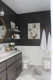 black and gray bathroom ideas the grey cabinet paint color is benjamin kendall charcoal