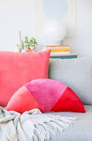 scarves and matching pillows bed of tennessee fabric rag shape up how to make velvet geometric color blocked pillows