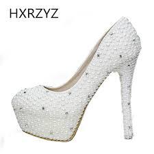 wedding shoes luxury women shoes luxury pearl diamond wedding shoes