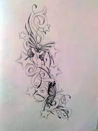 butterfly and star trail neck tattoos photos pictures and