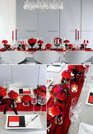 Gold Table Decorations Red And Black Table Settings For Weddings Red Black And Gold Table