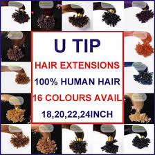 Human Hair Glue In Extensions by 200 Strands 0 5 0 6 0 7 Gram Pre Bonded Nail U Tip Real Remy Human