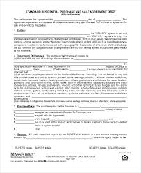 purchase and sale agreement 10 free pdf documents download