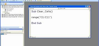 how to clear data u0026 cell contents in excel using a macro