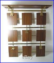 teak coat rack hanger mid century danish modern rosewood 50s 60s