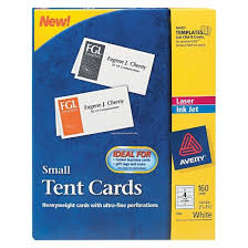 avery 2 x 3 1 2 small tent cards white 160 per box target