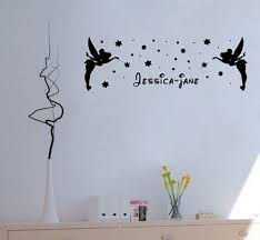 Tinkerbell Garden Decor Personalised Tinkerbell Wall Art Decal Sticker New Wall Decals