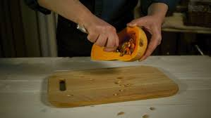 A Chef Slicing A Pumpkin by Chef Preparing Fresh Oranges Stock Footage Video 9575012