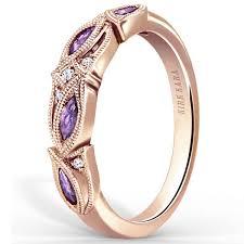amethyst wedding rings kirk kara dahlia purple amethyst marquise wedding band