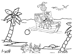 pirate ship coloring page 3195