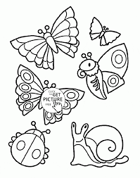 cute insect coloring page
